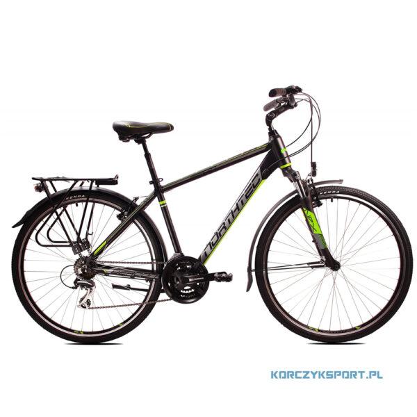 "Rower trekkingowy Northtec Bergon VB AC 28"" 22 Czarno-Zielony 2021"